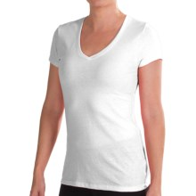 New Balance V-Neck T-Shirt - Short Sleeve (For Women) in White - Closeouts