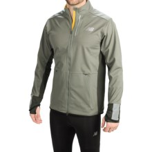 New Balance Windblocker Jacket (For Men) in Slate Green/Gold Rush - Closeouts