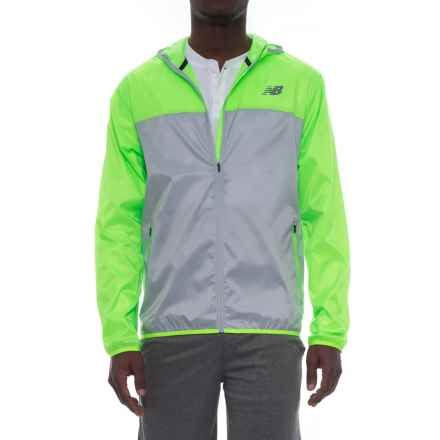 New Balance Windcheater Jacket - Hooded (For Men) in Lime - Closeouts