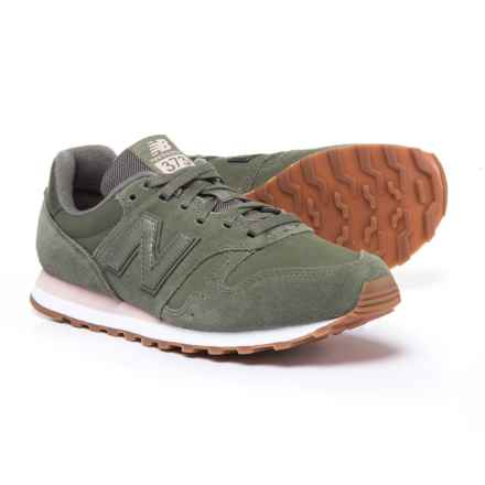 New Balance WL373 Sneakers - Vegan Leather (For Women) in Khaki - Closeouts