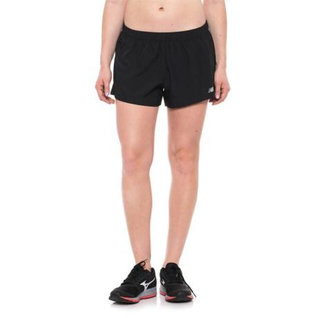 "New Balance Woven Shorts - 3"" (For Women) in 001 Bk Black"