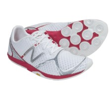 New Balance WR00 Minimus Running Shoes (For Women) in White/Silver/Pink - Closeouts