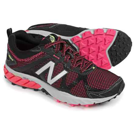 New Balance WT610v5 Trail Running Shoes (For Women) in Black/Pink Zing - Closeouts
