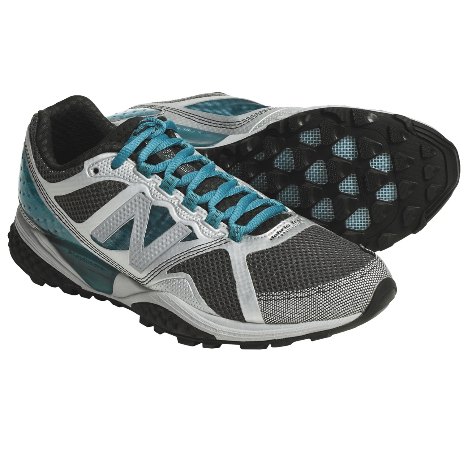 New Balance WT915 Trail Running Shoes (For Women) in Silver/Blue