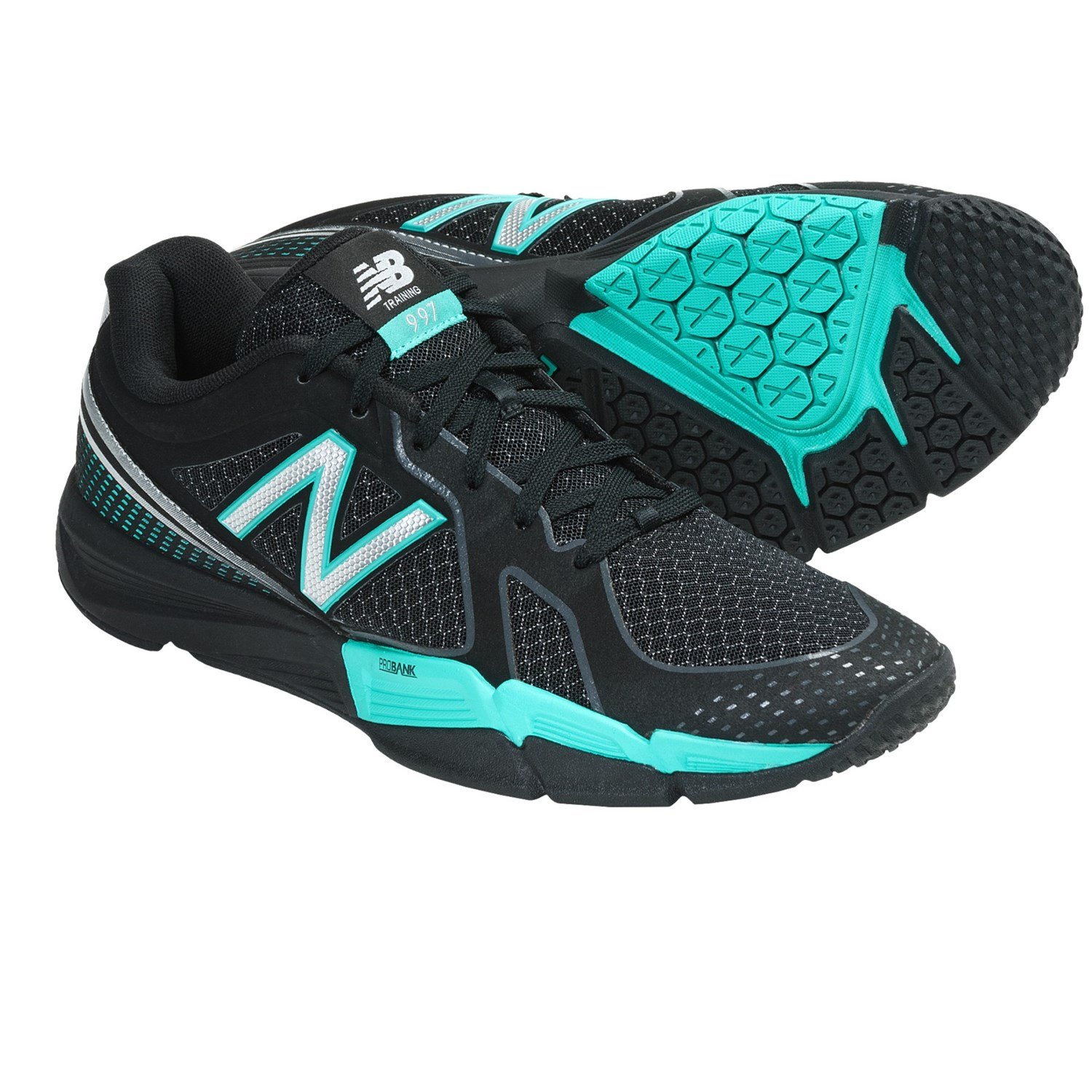 New Balance WX997 Cross Training Shoes (For Women) in Black/Teal