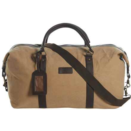 New Culture USA Canvas Duffel Bag in Tan - Closeouts