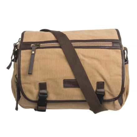 New Culture USA Canvas Messenger Bag in Tan - Closeouts