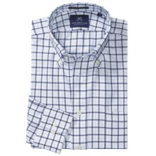New England Shirt Company Borelli Windowpane Shirt - Button-Down Collar, Long Sleeve (For Men) in Navy - Closeouts