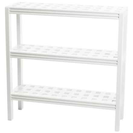 New Ridge Abingdon 3-Shelf Console Shoe Rack - Solid Birch in White - Closeouts
