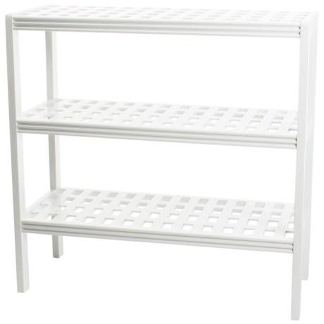 New Ridge Abingdon Solid Birch 3-Shelf Large Console in White