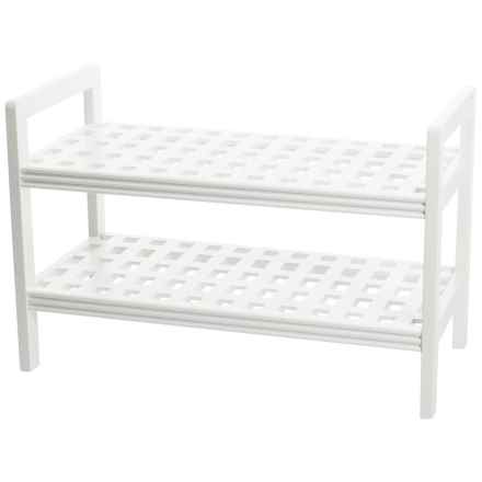 "New Ridge Large Bench - 22x33.25x16"" in White - Closeouts"