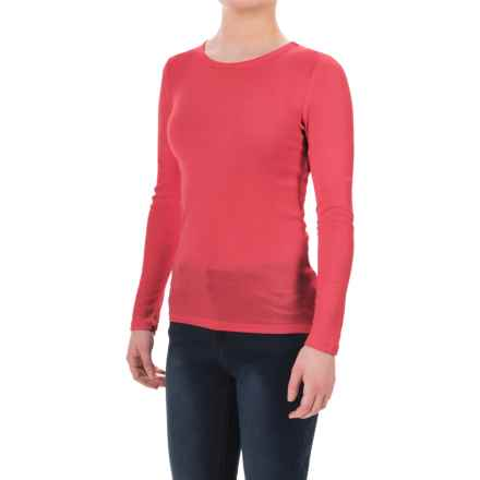 New York Laundry Banded Shirt - Long Sleeve (For Women) in Salmon - Closeouts