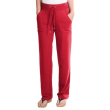 New York Laundry French Terry Pants - Drawstring Waist (For Women) in Red - Closeouts