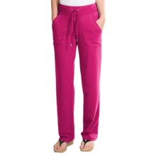 New York Laundry French Terry Pants - Drawstring Waist (For Women) in Smoking Pink - Closeouts