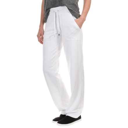 New York Laundry French Terry Pants - Drawstring Waist (For Women) in White - Closeouts