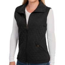 New York Laundry Lightweight Quilted Vest - Full Zip (For Women) in Black - Closeouts