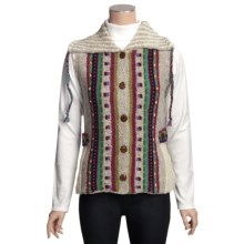 Newari by Icelandic Design Caraway Nepali Vest - Handknit Wool (For Women) in Natural - Closeouts