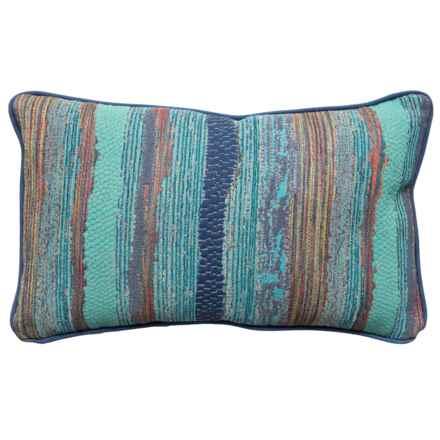 "Newport Chindi Boho Textured Throw Pillow -14x22"" in Marina - Closeouts"