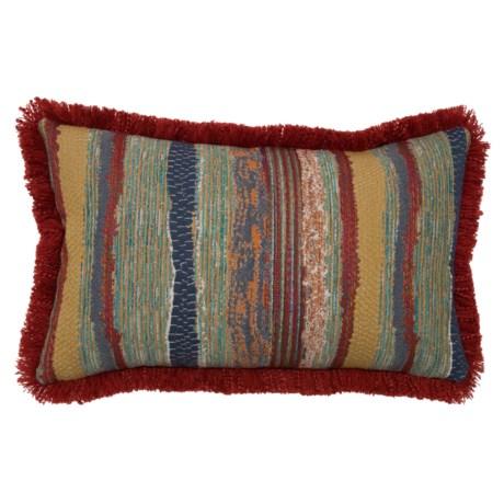 "Newport Chindi Boho Textured Throw Pillow -14x22"" in Riviera"