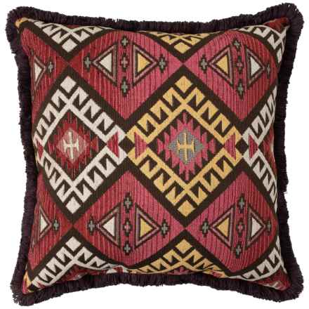 "Newport Chindi Tween Stripe Throw Pillow - 26x26"" in Mesquite - Closeouts"