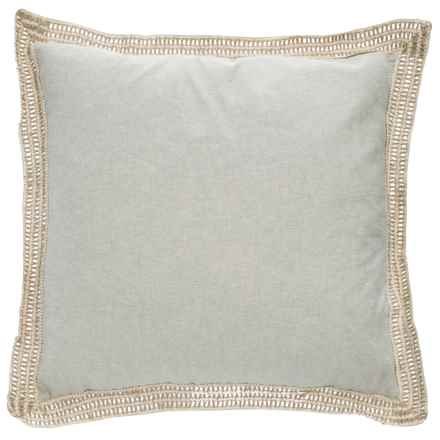 """Newport Jute Trim Throw Pillow - 20x20"""", Feathers in Wild Dove - Closeouts"""