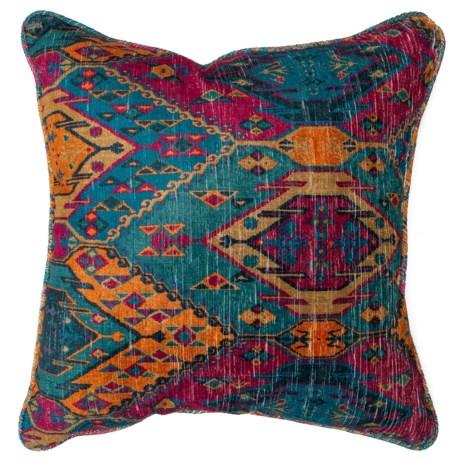 "Newport Oversized Jewel Pattern Throw Pillow - 24x24"" in Jewel"