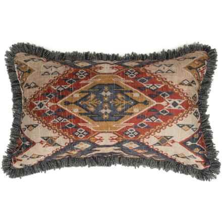 "Newport Textured Southwestern Throw Pillow - 17x26"" in Denim - Closeouts"