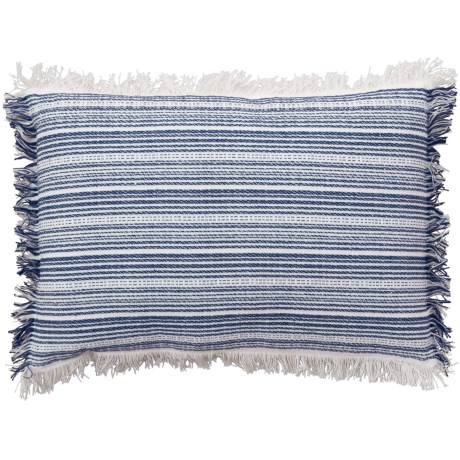 """Newport Textured Stripe Throw Pillow - 14x20"""", Feathers in Blue"""