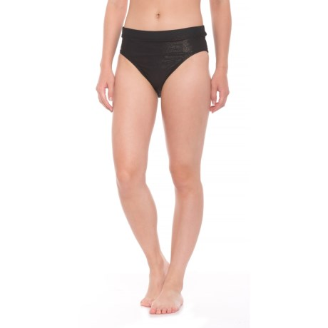 Next Feeling Fine High-Waist Bikini Bottoms (For Women) in Black