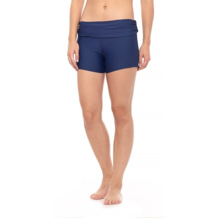 1634df34ea Next Roll Top Swim Shorts - Built-In Brief (For Women) in Navy