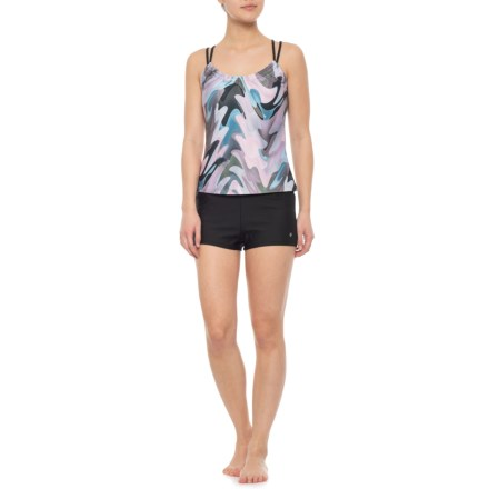 38563ad8f1 Next Shirred Tankini Top and Good Karma Jump Start Swim Shorts (For Women)  in