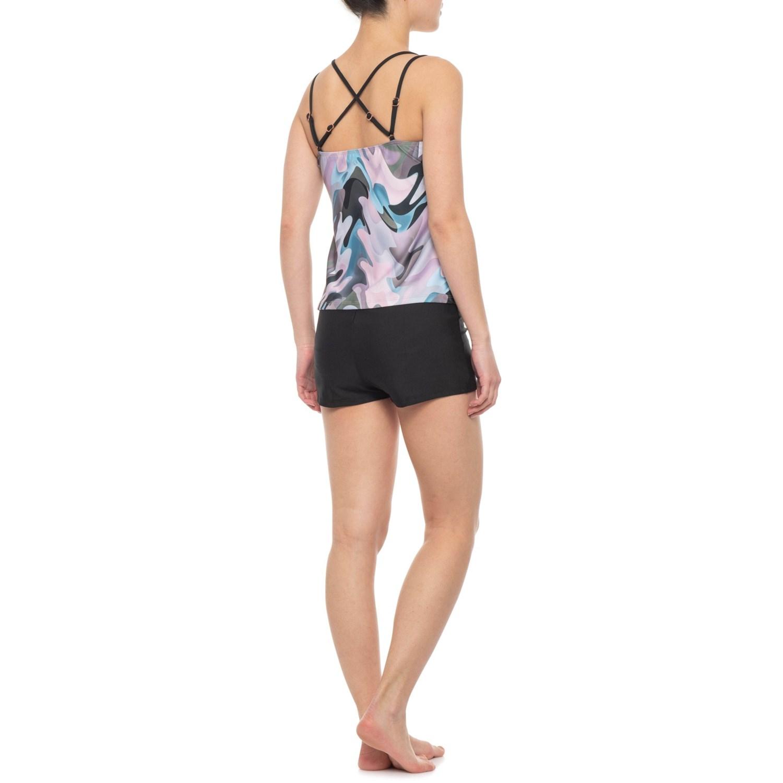 180189a575 Next Shirred Tankini Top and Good Karma Jump Start Swim Shorts (For Women)