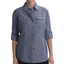 Nexx Chambray Cotton Tunic - Elbow Sleeve (For Women) in Navy Chambray - Closeouts