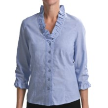 Nexx Ruffled Chambray Shirt - Cotton, 3/4 Sleeve (For Women) in Chambray - Closeouts