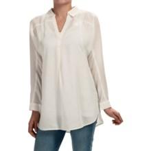 Nic + Zoe Drapey Tunic Shirt - Long Sleeve (For Women) in Milk White - Closeouts