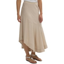 Nic + Zoe Engagement Skirt - Linen-Rayon (For Women) in Porcini Mix - Closeouts
