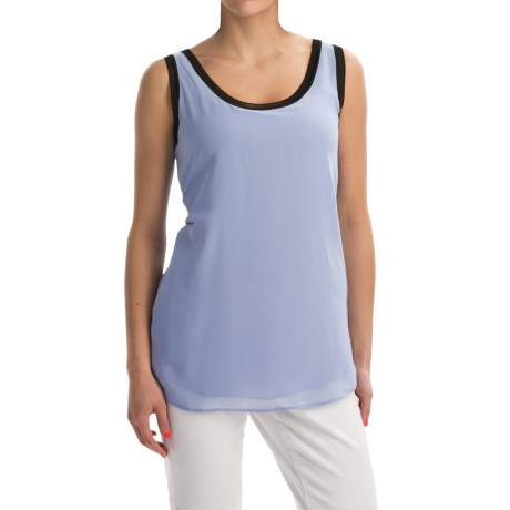 Nic+Zoe Mixed Trim Shirt Sleeveless (For Women)