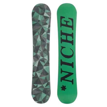 Niche Minx Snowboard in Geo Green W/Green/Black Logo - Closeouts