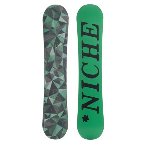 Niche Minx Snowboard in Geo Green W/Green/Black Logo