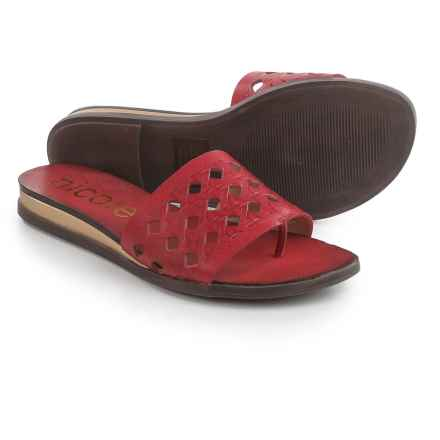 Nicole Ainslie Sandals - Leather (For Women) in Currant - Closeouts
