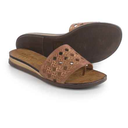 Nicole Ainslie Sandals - Leather (For Women) in Gold - Closeouts