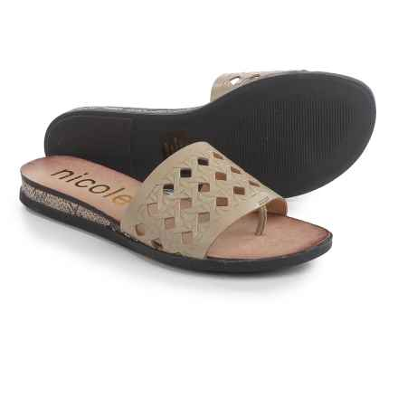 Nicole Ainslie Sandals - Leather (For Women) in Sand - Closeouts