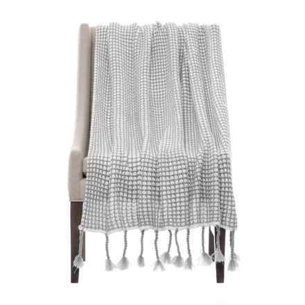 "Nicole Miller Artelier Sally Throw Blanket - 50x60"" in Grey/White - Closeouts"