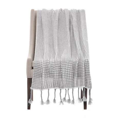 "Nicole Miller Artelier Sally Throw Blanket - 50x60"" in Grey/White"