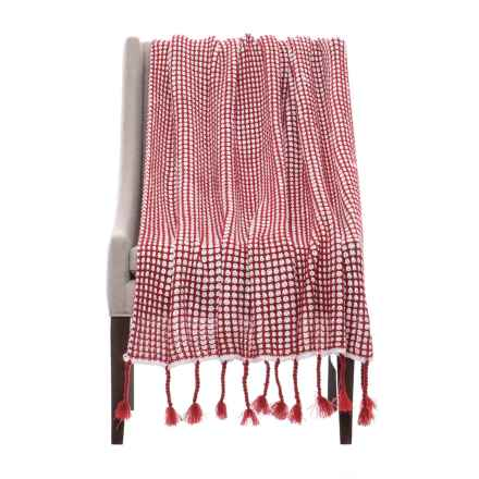"Nicole Miller Artelier Sally Throw Blanket - 50x60"" in Red - Closeouts"