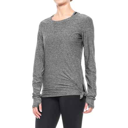 Nicole Miller Asymmetrical Shirt - Long Sleeve (For Women) in Black Heather - Closeouts