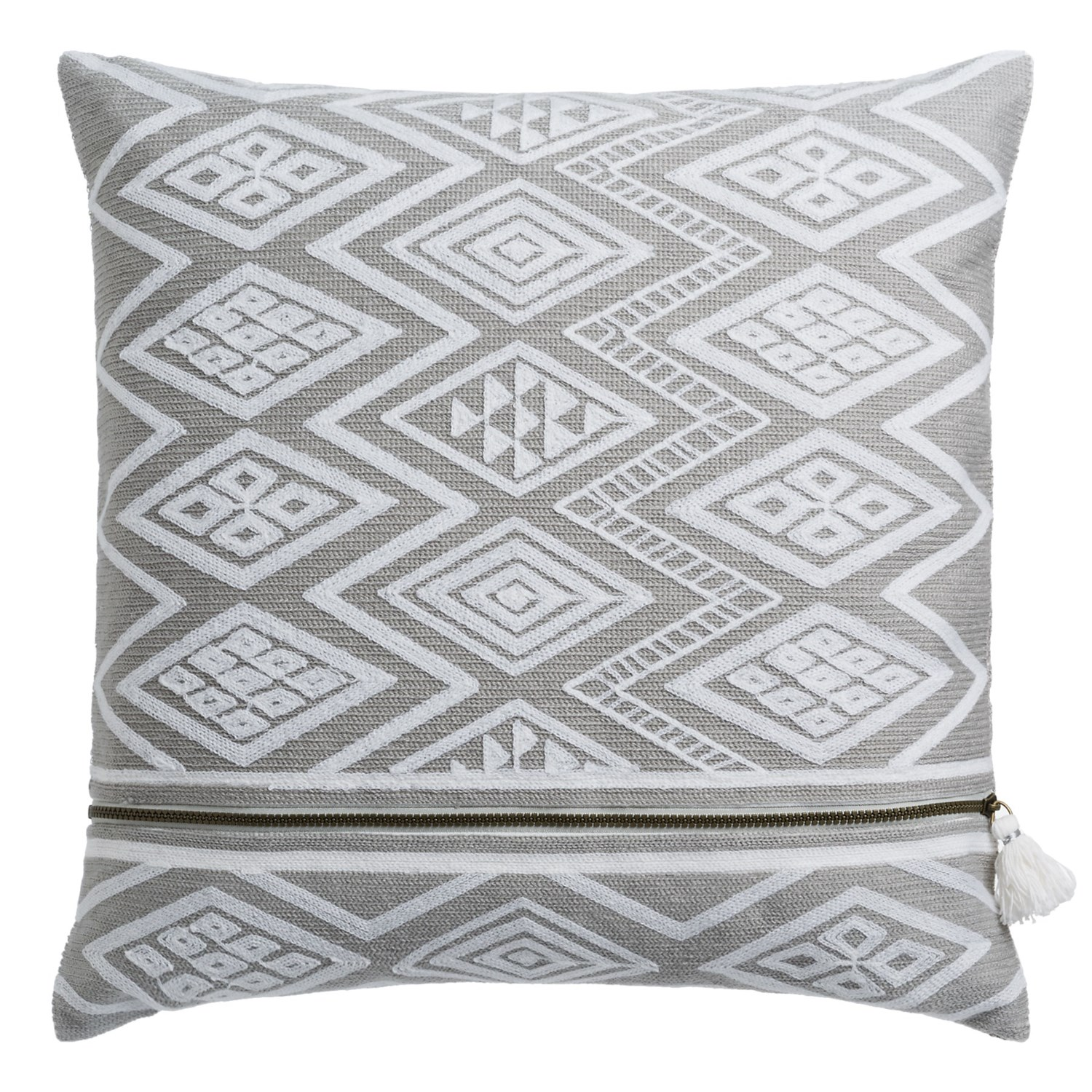 "Nicole Miller Atelier Geo-Pattern Decor Pillow - 20x20"", Feathers ..."