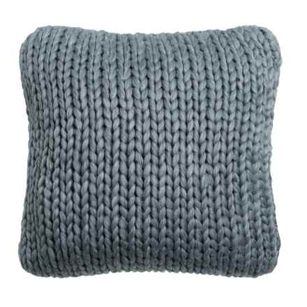"Nicole Miller Atelier Himalaya Knit Decor Pillow - 20x20"" in Dark Grey - Closeouts"