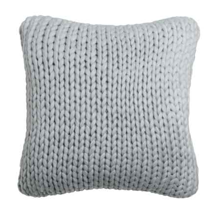 "Nicole Miller Atelier Himalaya Knit Decor Pillow - 20x20"" in Light Grey - Closeouts"