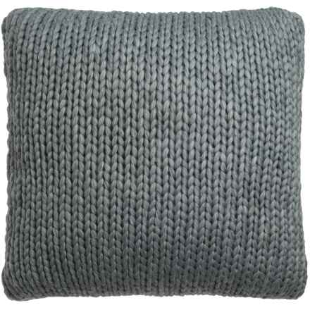 "Nicole Miller Atelier Himalaya Knit Decor Pillow - 26x26"" in Dark Grey - Closeouts"